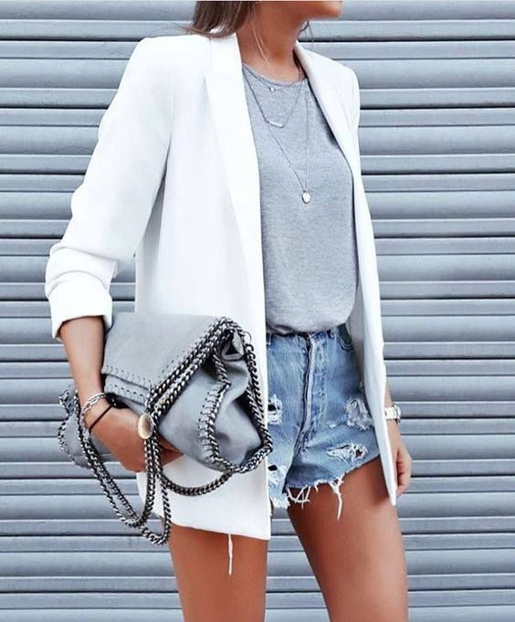 Blazer Ceket ile Yaz için 3 Kombin