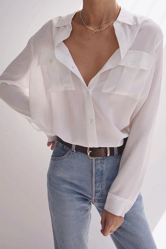 Pratik Beyaz Gömlek Kombinleri